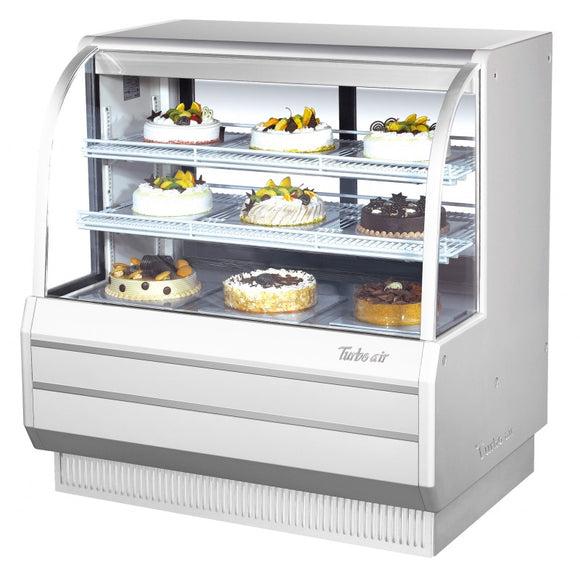Turbo Air Dry Curved Glass Bakery Case, 48