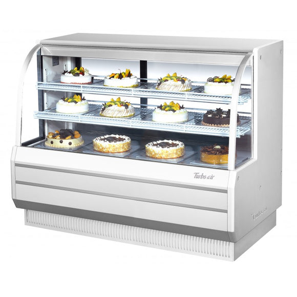 Turbo Air Dry Curved Glass Bakery Case, 60