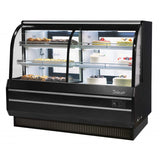 "Turbo Air Combination Curved Glass Bakery Case, 72""W, White or Black"