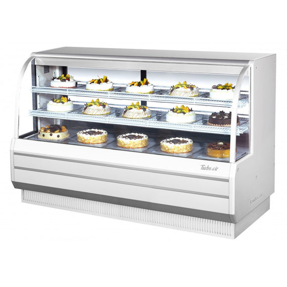 Turbo Air Dry Curved Glass Bakery Case, 72