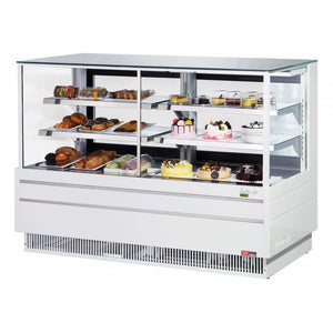 "Turbo Air Combination Straight Front Bakery Case, 72""W, White or Black"