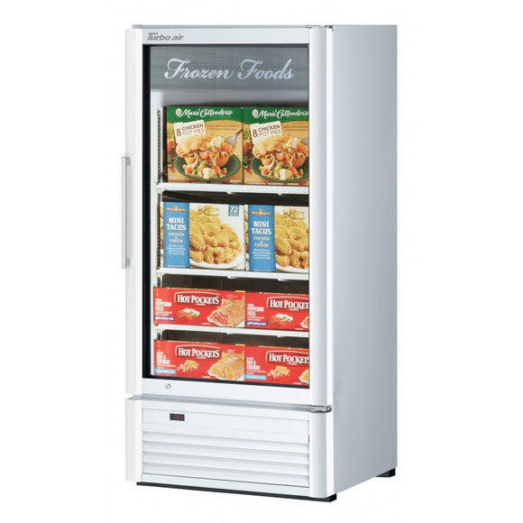 Turbo Air Super Deluxe Glass Door Freezer, 1 Section, 25