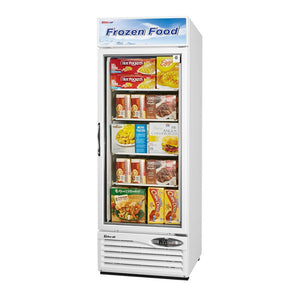 "Turbo Air Swing Glass Door Freezer, 1 Section, 27""W"