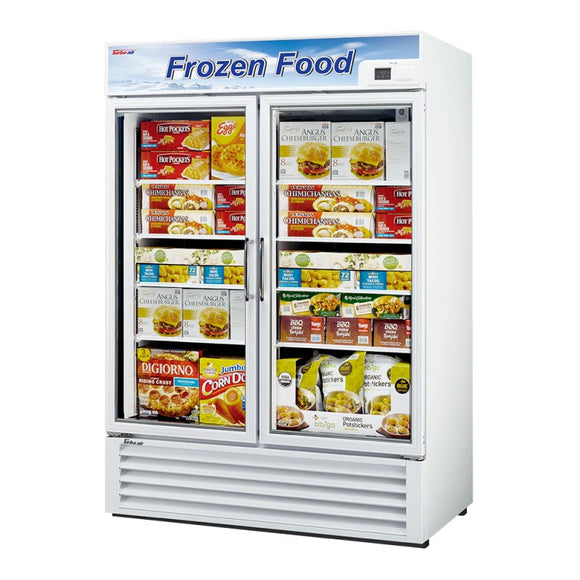 Turbo Air Glass Door Freezer, 2 Section, 2 Door, 54
