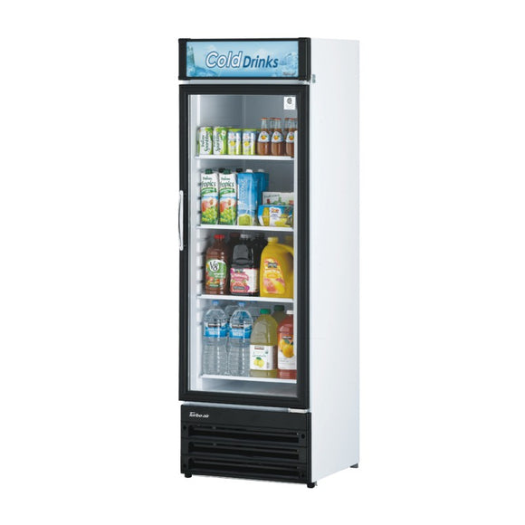 Turbo Air Glass Door Refrigerated Merchandiser, 1 Section, 23