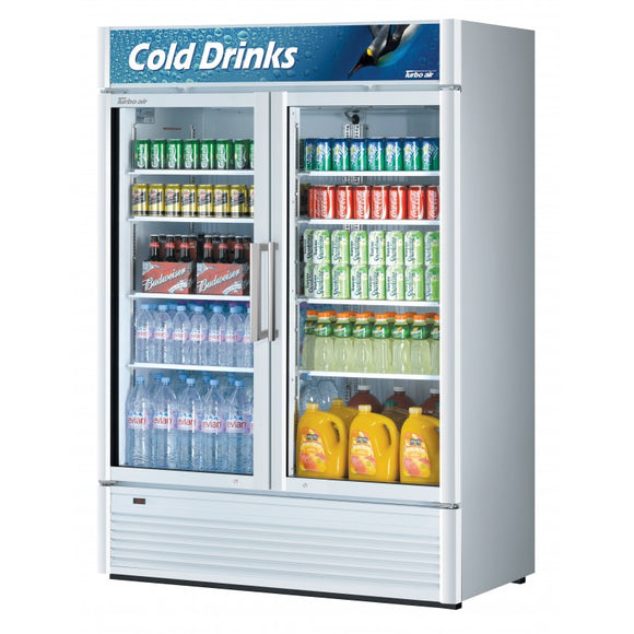 Turbo Air Super Deluxe Refrigerated Merchandiser, 2 Section, 51