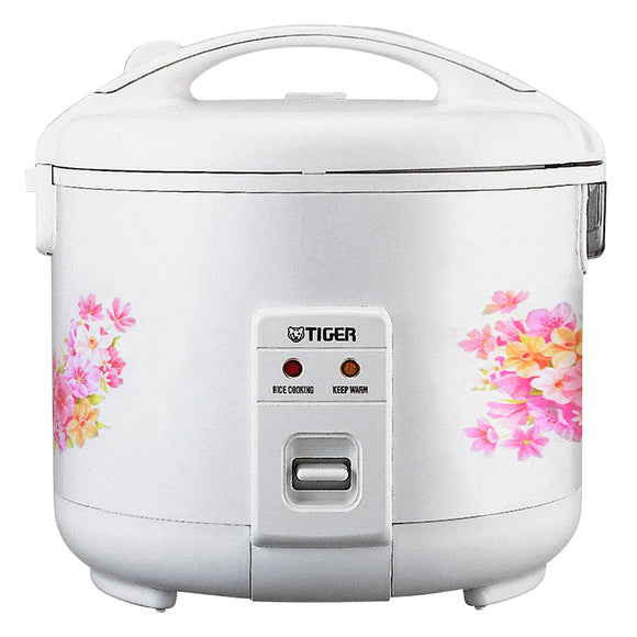Tiger JNP-0550-FL 3-Cup (Uncooked) Rice Cooker and Warmer, Floral White