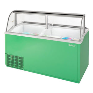 "Turbo Air Ice Cream Dipping Cabinet, 68""W, Green"
