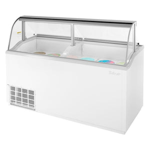 "Turbo Air Ice Cream Dipping Cabinet, 68""W, White"