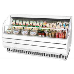 "Turbo Air Open Display Merchandiser, Horizontal, 75""W, White"
