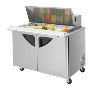 "Turbo Air Super Deluxe Sandwich/Salad Unit, 2 Section, 18 Pans, 48""W"