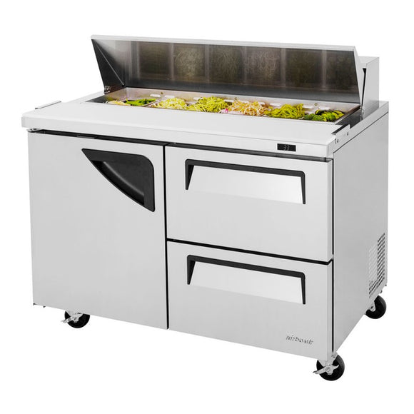 Turbo Air Super Deluxe Sandwich/Salad Unit, 2 Section, 12 Pans, 48
