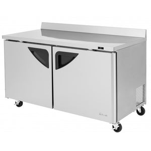 "Turbo Air Super Deluxe Worktop Freezer, 2 Section, 2 Door, 60""W"