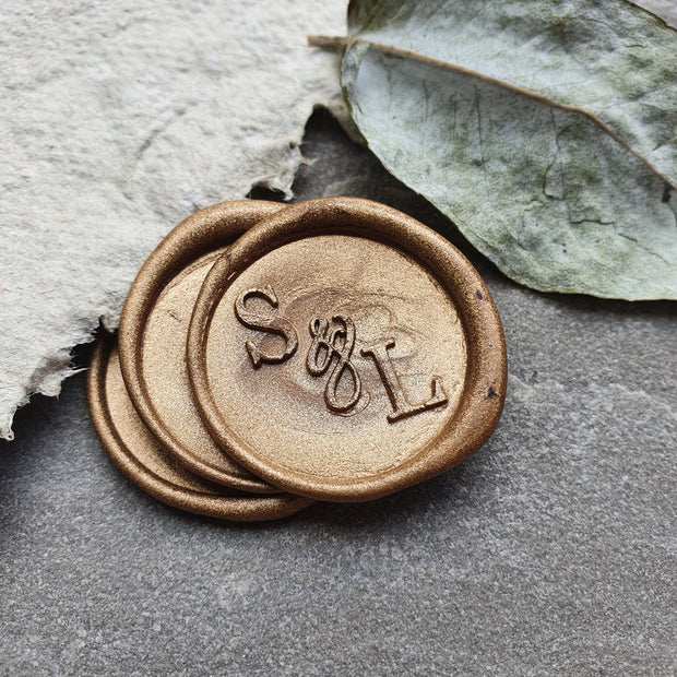 'Elegant' Monogram Wax Seals - THE LITTLE BLUE BRUSH