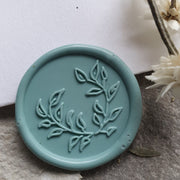 Foliage  Wreath Self - Adhesive Wax Seals - Various Colours - THE LITTLE BLUE BRUSH