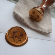 'Two Buds' wax stamp - THE LITTLE BLUE BRUSH