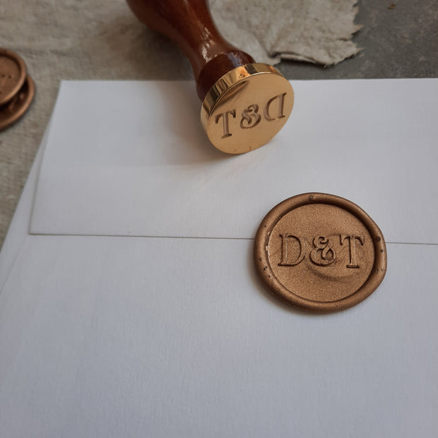 'Ella' Monogram - Wax Seals - THE LITTLE BLUE BRUSH