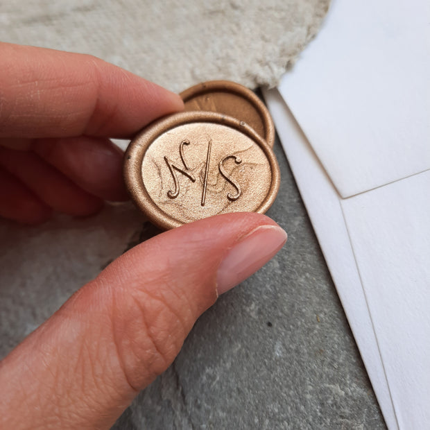 'Amelia' Monogram - Wax Seals - THE LITTLE BLUE BRUSH