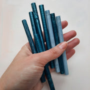 Mixed Blues 7mm sealing wax sticks - THE LITTLE BLUE BRUSH