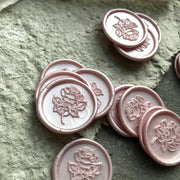 Blush 'English Rose'  Self-Adhesive Wax Seals - THE LITTLE BLUE BRUSH