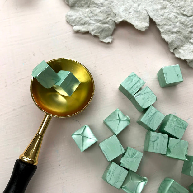 Sealing Wax Beads- Sage Green - THE LITTLE BLUE BRUSH