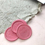 30MM  'Rose Garden' Monogram STAMP ONLY - THE LITTLE BLUE BRUSH