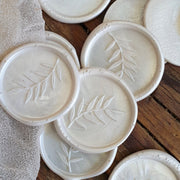 'Foliage' Wax Seals in Chelsea PEARL WHITE - THE LITTLE BLUE BRUSH