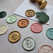 No° 4 monogram Wax Seals - THE LITTLE BLUE BRUSH