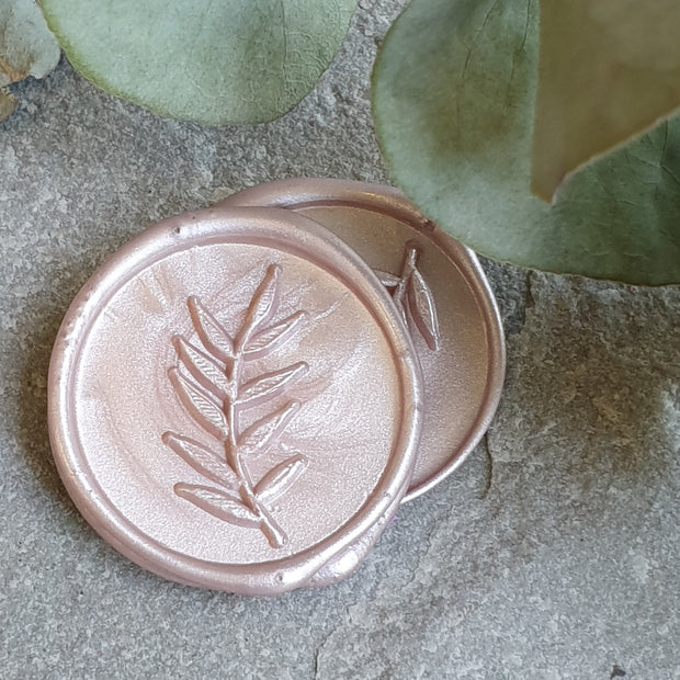 'Foliage' Wax Seals in Regents Park BLUSH - THE LITTLE BLUE BRUSH