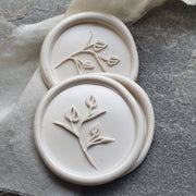 Islington IVORY  'Tulip'  wax seals - THE LITTLE BLUE BRUSH