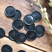 Black and Gold 'foliage'  Self-Adhesive Wax Seals - THE LITTLE BLUE BRUSH