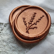 Greenwich Copper 'Bouquet' self adhesive wax seals - THE LITTLE BLUE BRUSH