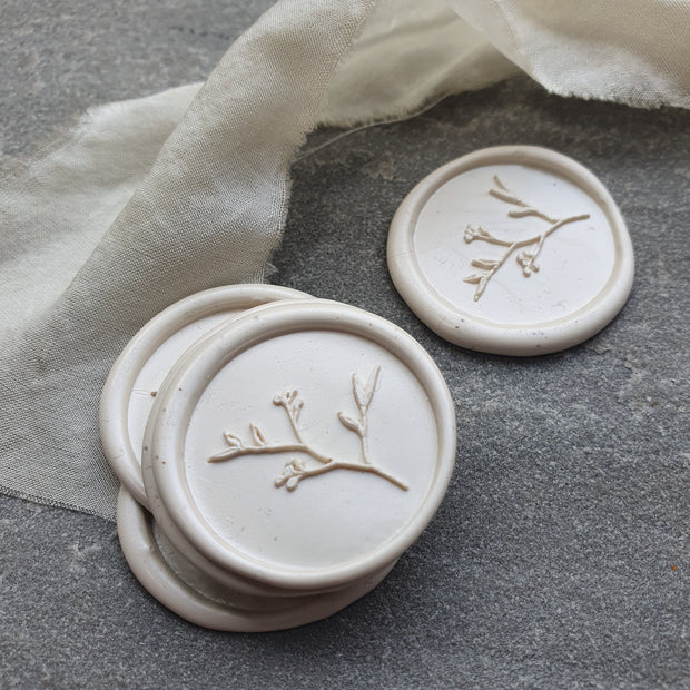 Islington IVORY  'Spring Stems'  Wax Seals - THE LITTLE BLUE BRUSH