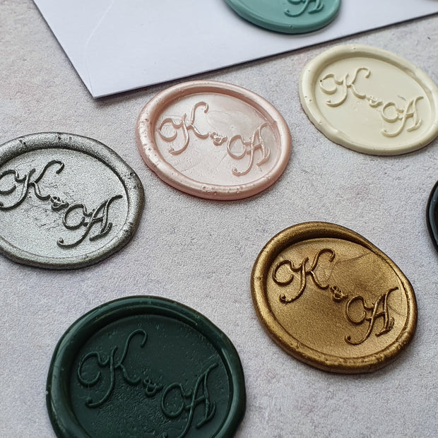 'Isabelle' Monogram Wax Seals - THE LITTLE BLUE BRUSH