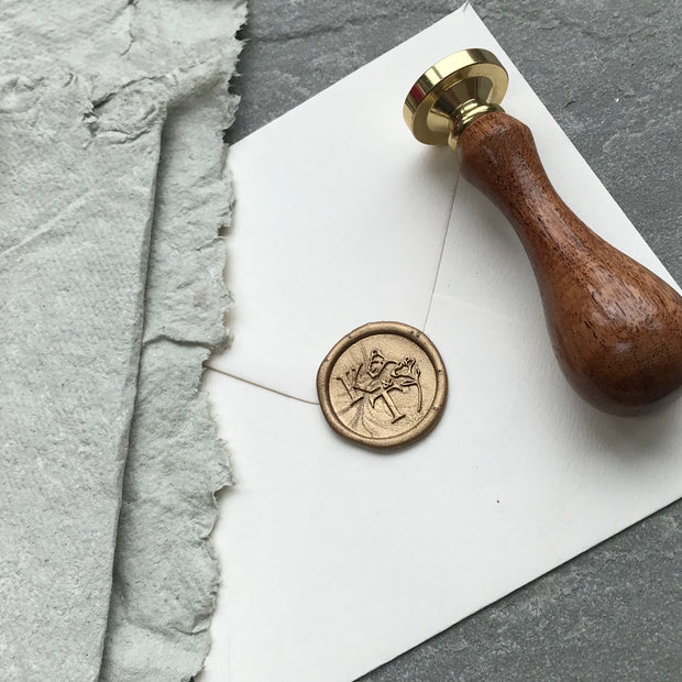 No. 1 Monogram STAMP ONLY - THE LITTLE BLUE BRUSH
