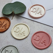 'Modern' Monogram Wax Seals - THE LITTLE BLUE BRUSH