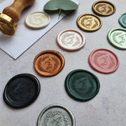 'Blossom' monogram wax seals - THE LITTLE BLUE BRUSH