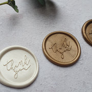 'Thank you' Self - Adhesive Wax Seals - THE LITTLE BLUE BRUSH