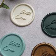 'With Love' Self -  Adhesive Wax Seals - THE LITTLE BLUE BRUSH