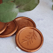 'Foliage' Wax Seals in Greenwich Copper - THE LITTLE BLUE BRUSH
