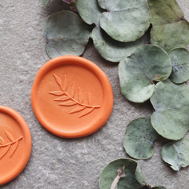 "Orange "" Foliage "" Self Adhesive Wax Seals - THE LITTLE BLUE BRUSH"