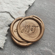 'Mia' Monogram Wax Seals - THE LITTLE BLUE BRUSH