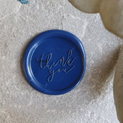 'Thank You' Wax Seals - Various Colours - THE LITTLE BLUE BRUSH