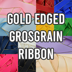 Gold Edged Grosgrain Ribbon