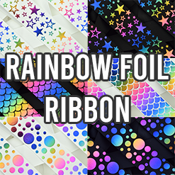 Rainbow Foil Ribbon