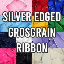 Silver Edged Grosgrain Ribbon