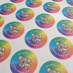Circle Custom Logo Stickers