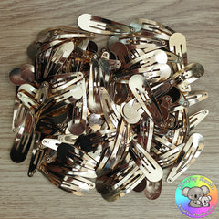 50mm Gold Snap Hair Clips