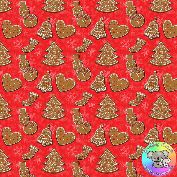 Christmas Cookies Fabric 2