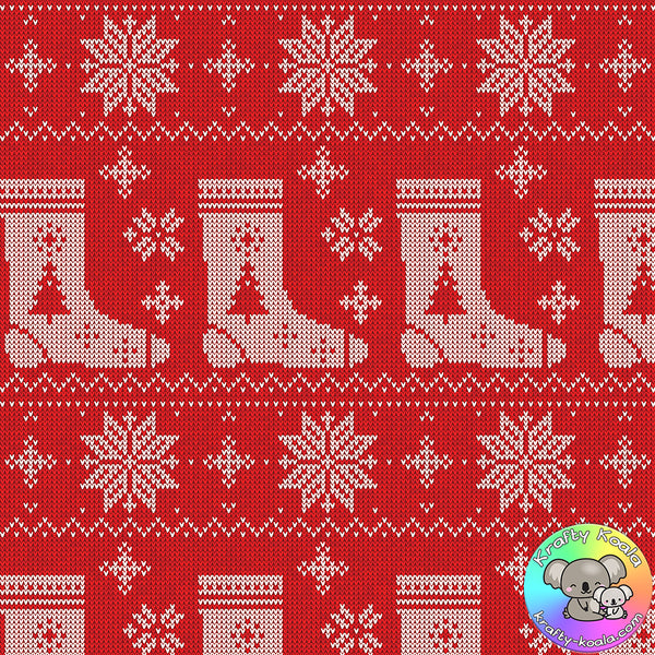 Red Christmas Fairisle Fabric 9
